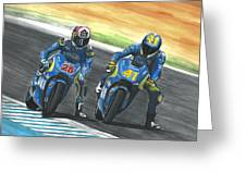 Maverick Y Aleix Full Brake Greeting Card
