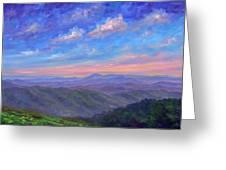 Max Patch North Carolina Greeting Card