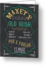 Maxey's Old Irish Pub Greeting Card