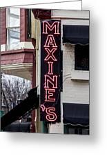 Maxine's Saloon Greeting Card