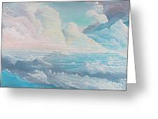 May Colored Clouds Greeting Card