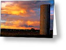 May Day Silo Sunset Greeting Card