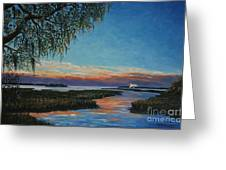 May River Sunset Greeting Card