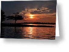 May Sunset At Detroit Point Greeting Card
