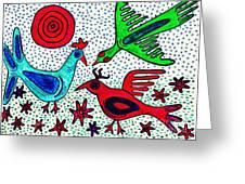 Mayan Birds Greeting Card