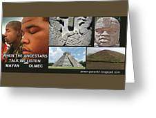 Mayan Olmec Greeting Card