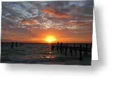Mayan Riviera Sunrise Greeting Card