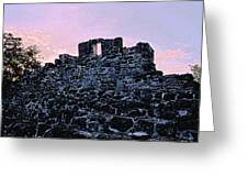 Mayan Ruins In Cozumel Mexico Greeting Card