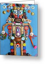 Mayan Security God  Greeting Card