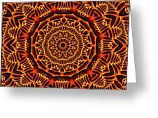 Mayan Sun God Greeting Card