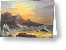 Mayan Sunset Greeting Card