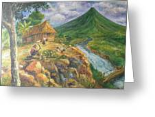 Mayon Scene #1 Greeting Card