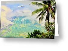 Mayon Volcano Greeting Card