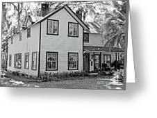 Mayors House Black And White Greeting Card