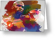 Mayweather Watercolor Greeting Card