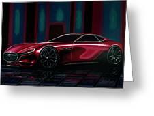 Mazda Rx Vision 2015 Painting Greeting Card