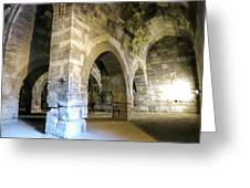 Maze Of Arches Greeting Card