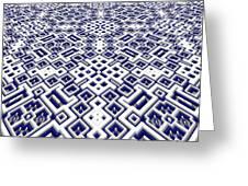 Maze Pattern Greeting Card