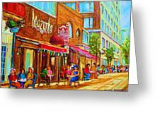 Mazurka Cafe Greeting Card