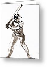 Mbl Batter Up Greeting Card