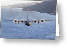 Mc-130h Combat Talon II Over Loch Ness Greeting Card