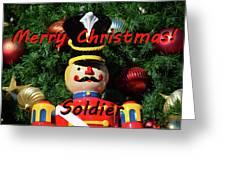 Custom Soldier Christmas Card Greeting Card