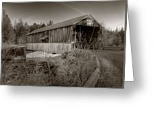 Mccann Covered Bridge  Greeting Card by Jason Bennett