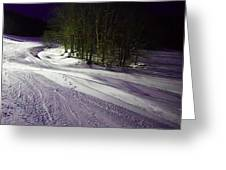 Mccauley Evening Snowscape Greeting Card
