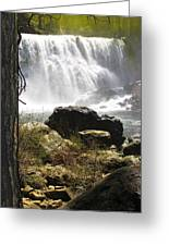 Mccloud Middle Falls Greeting Card