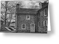 Mcconkey Ferry Inn Black And White Greeting Card
