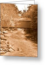 Mcconnells Mill Covered Bridge Sepia Greeting Card