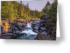 Mcdonald Creek Falls Greeting Card