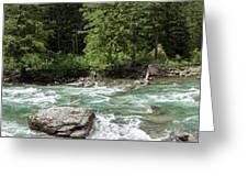 Mcdonald Creek Panorama Greeting Card