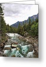 Mcdonald Falls - Glacier Greeting Card