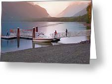 Mcdonald Lake At Dusk Greeting Card