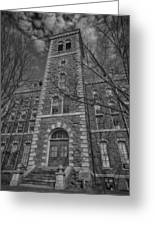 Mcgraw Hall - Bw Greeting Card