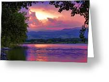 Mcintosh Lake Sunset Greeting Card