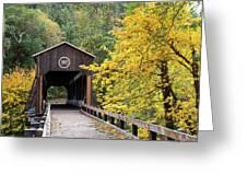 Mckee Bridge In Fall Greeting Card