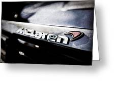 Mclaren 12c Spider Rear Emblem -0143ac Greeting Card