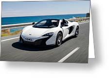 Mclaren 650s Spider Greeting Card