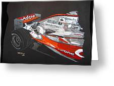 Mclaren F1 Alonso Greeting Card