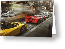 Mclaren F1 Gtr With Speciale And Integrale And 918 Greeting Card