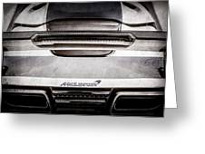 Mclaren Mp4 12c Rear View -0668ac Greeting Card