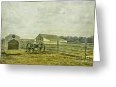 Mcpherson Barn And Cannon Gettysburg  Greeting Card