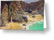 Mcway Falls On The California Coast Greeting Card