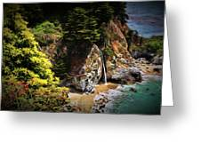 Mcway Falls Painting Greeting Card