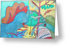 Me-bird In Paradise Greeting Card