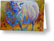 Me Me Me - Sheep Greeting Card by Marion Rose