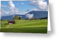 Meadow In Alpe Di Siusi Greeting Card
