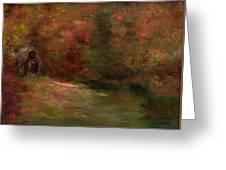Meadow In Fall Greeting Card